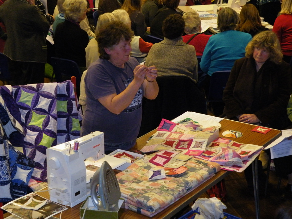 Wendy Finnis demonstrates Japanese Folded patchwork